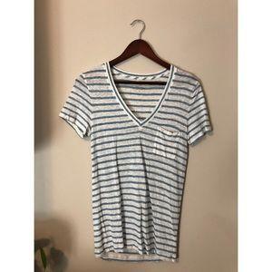 J. Crew striped linen t-shirt   size small
